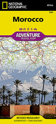 Morocco Adventure Travel Map National Geographic Waterproof