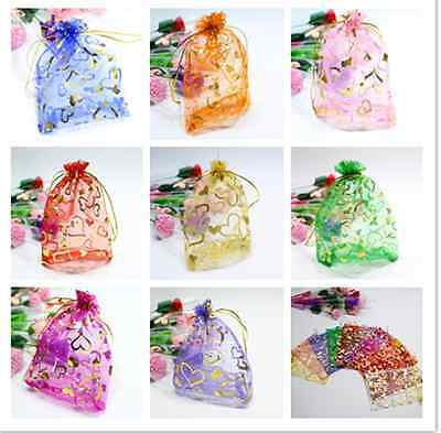FREE 25/50/100pcs  Jewellery Pouches Packing Organza Gift Bags Wedding Party