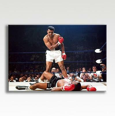 "MUHAMMAD ALI CANVAS v Sonny Liston Photo Poster Print Picture Art 30""x20"" CANVAS"