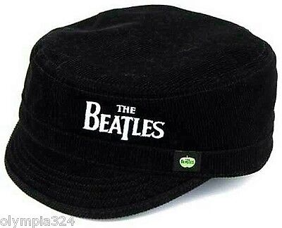 BEATLES, THE CADET HAT/CAP Embroidered Logo Corduroy Authentic Licensed NEW