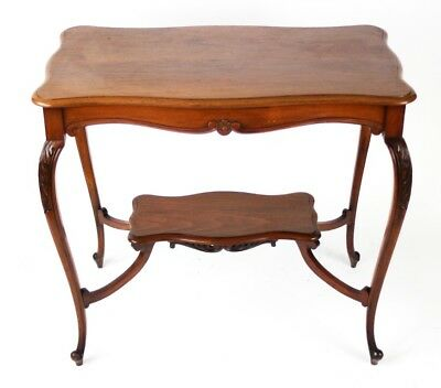 Art Nouveau Mahogany Occasional Table with raised under tier - FREE P&P [PL2230]