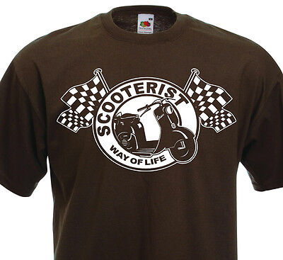T-shirt SCOOTERIST Way of Life -  Vespa ACMA Piaggio Scooter Mod Modernist 60's