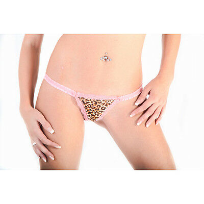 SeXy 5er Packung Leo Leoparden String Slip  in Pink Gr.Uni S/M/L TOP&NEU 7588sy