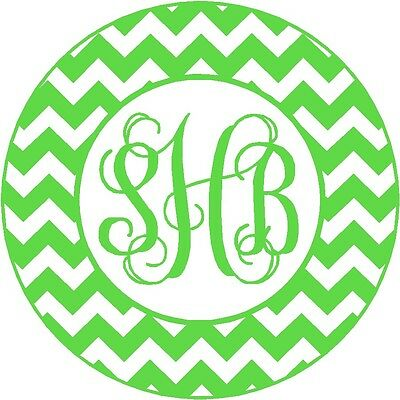 Personalized iPhone Charger Monogram Initial Moroccan Chevron Decal Sticker Wrap