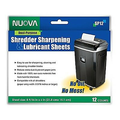 Nuova SP12 Shredder Sharpening & Lubricant Sheets 12 Count