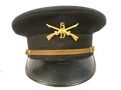 WWI US Army M1912 Officer's Visor Dress Service Cap or Hat - Size 7 - Ohio Guard