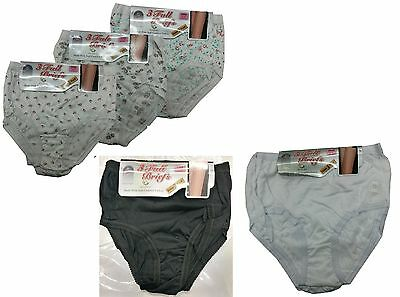 6 Pairs Ladies Womens Cotton Full Briefs Underwear Knickers All Sizes 10-28 uk