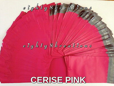 CERISE PINK Color 6x9 Flat Poly Mailers Shipping Package Postal Envelopes Bags