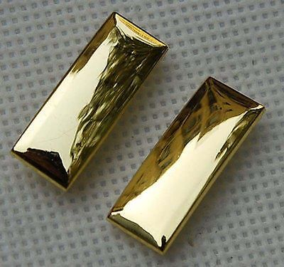Ww2 Pair Of Us Army Second Lieutenant Officer Rank Insignia Military Badges Gold