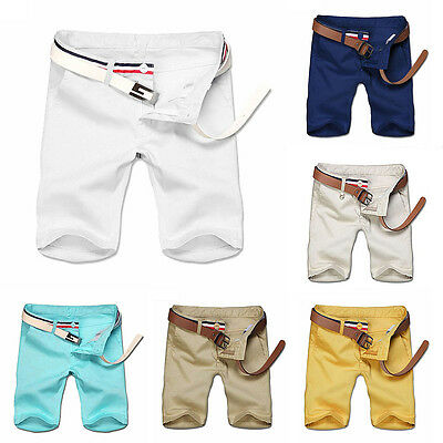 Mens Shorts Chino Cargo Summer Trousers Work Combat Half Pants Casual New