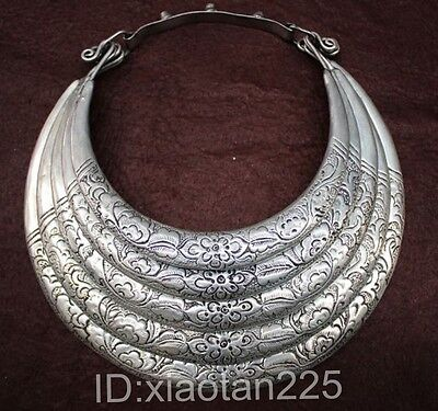 National style Guizhou Miao Silver Handmade Necklace W2198