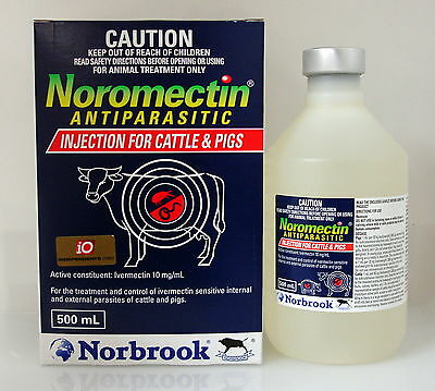 Noromectin Ivermectin Injection for Cattle / Pig 500ml (Equiv. Ivomec Injection)