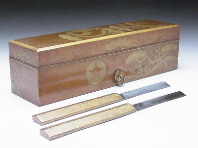 Attention! Razor with a lacquered box owned by a Japanese shogun in the 17th