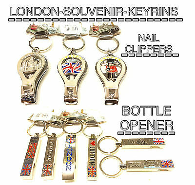 London Souvenirs Keyrings Keychain Assorted Symbol Nail Clipper & Bottle Opener