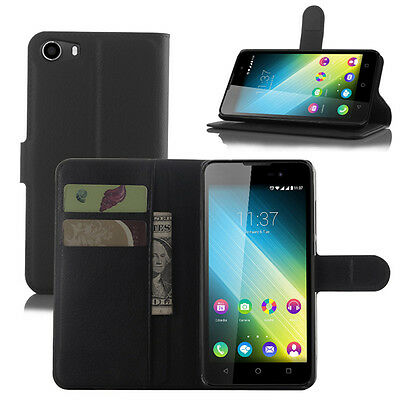 Litchi Texture Flip Leather Case Magnetic Cover Case Wallet Stand For Wiko Model