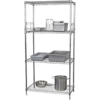 4 Tier Wire Shelving Kit Cool Room Dry Store Kitchen Storage 1220x 460mm