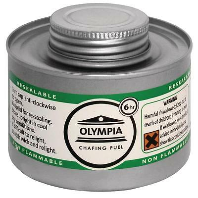 Olympia Liquid Chafing Fuel 6 Hour Tins Buffet Catering Heating Warming x 12
