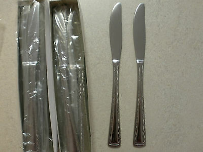 """Commercial Grade Cutlery Stainless Steel Table Knives """"Surrey"""" x 24 New"""