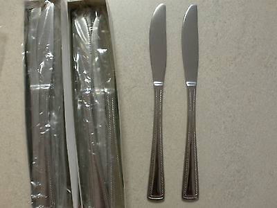 "Commercial Grade Cutlery Stainless Steel Table Knives ""Surrey"" x 24 New"