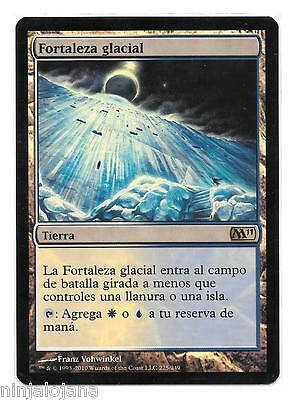FORTALEZA GLACIAL FOIL ! M11 MTG - NM en Español - Glacial Fortress Magic