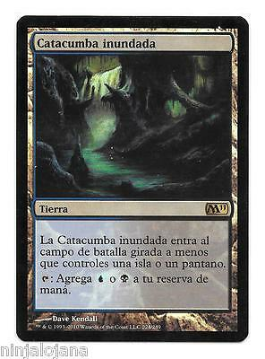 CATACUMBA INUNDADA FOIL ! M11 MTG - NM en Español - Drowned Catacomb Magic