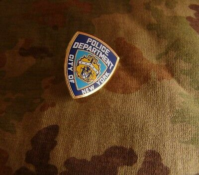 Us City Of New York Police Department Metal Badge Pin Insignia Brooch Official