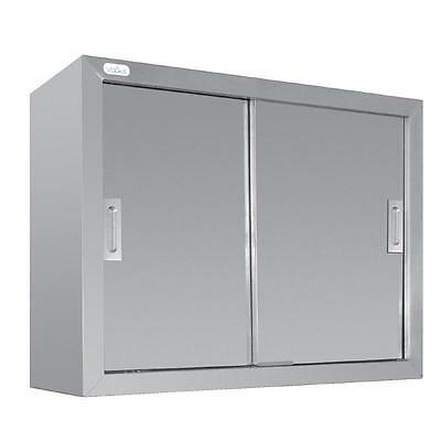 Stainless Steel Wall Cupboard Mountable Commercial Kitchen Restaurant Cafe