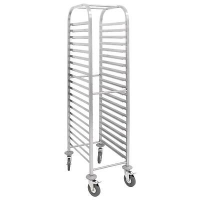 Stainless Steel 20 Shelve Gastronorm Racking Trolley Commercial 1700 x 380 x 557