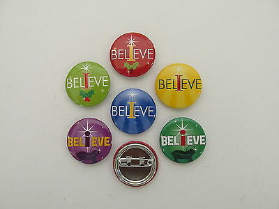 48 I BELIEVE mini button PINS religious Christmas FREE S/H party favors