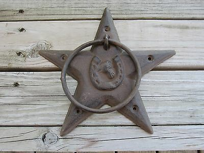 Rustic /Western Star Horse And Horse Shoe Towel Ring Kitchen / Bath