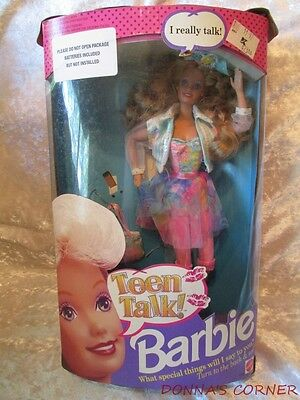 1991  Teen Talk Barbie~ Come With Box But No Batteries