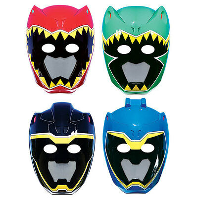 8 x Power Rangers Dino Charge Birthday Party Paper Masks