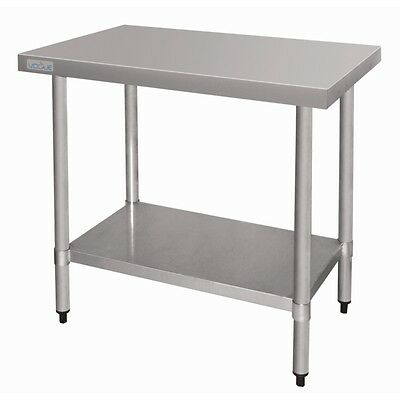 Stainless Steel Work Bench Table 900mm Heavy Duty Restaurant Cafe