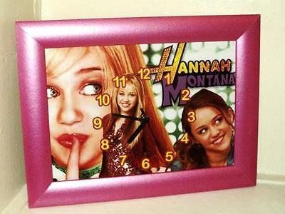 Hannah Montana Girls Bedroom Picture  Frame With Analogue Wall Clock