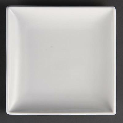 Olympia Whiteware Square Plates Hotel Restaurant Cafe 240mm Set Of 12