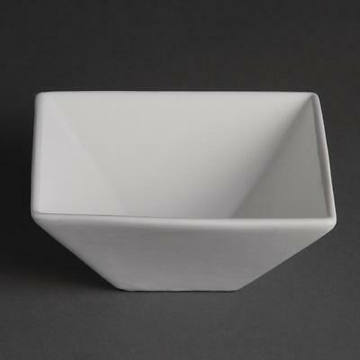 Olympia Whiteware Square Bowls Hotel Restaurant Cafe 170mm Set Of 12