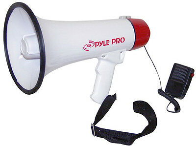 New Pyle PMP40 Professional Megaphone Bullhorn Speaker with Siren & Handheld Mic