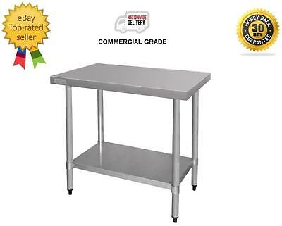 Stainless Steel Bench 900x900x700mm, Undershelf, Commercial Kitchen Equipment