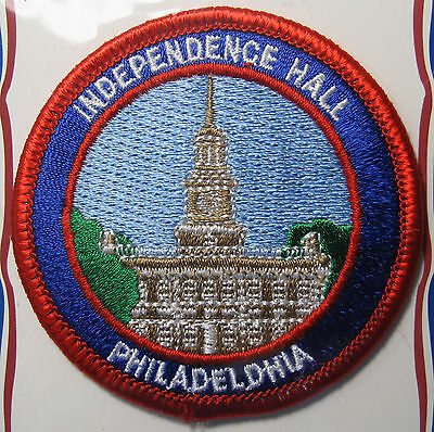 PENNSYLVANIA Philadelphia Independence Hall Souvenir Vtg Embroidered Patch NIP