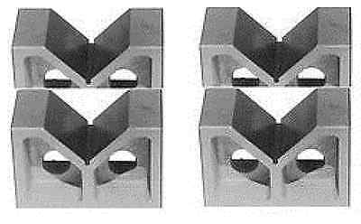 "Brand New Two Pair 3"" Cast Iron V- Blocks 3"" X 1-3/4"" X 2-3/8"""