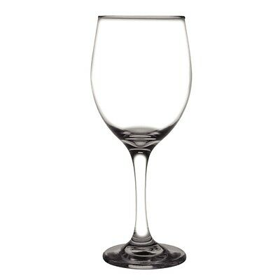 BULK 48 x Toughened Wine Stemmed Glass 410ml Olympia Restaurant Catering Quality