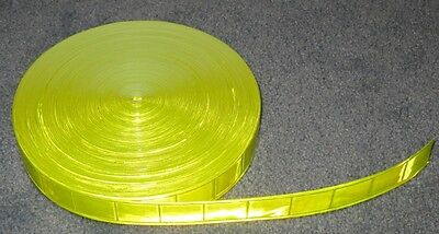 """50-yard roll Lime gloss sew on REFLECTIVE TAPE PVC 1"""""""