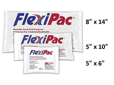 Reusable Hot Cold Compress - FlexiPac Chattanooga Gel Ice Packs - ALL SIZES