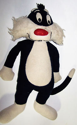 "Extremely Rare! Vintage 34"" Looney Tunes Sylvester the Cat Plush - Antique"
