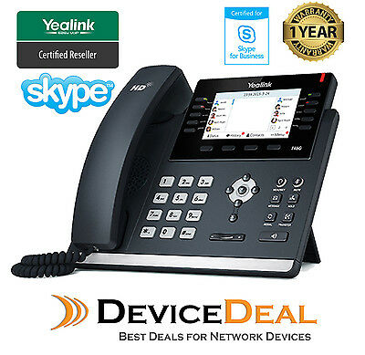 Yealink SIP-T46G-SFB Skype for Business Edition 6 Line IP Phone
