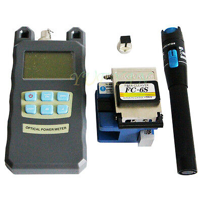 FTTH Tool Kit FC-6S Fiber Cleaver Optical Power Meter 1Mw Visual Fault Locator
