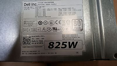 Dell Power Supply 825W 80 Plus Gold For Dell Precision T5600 Cvmy8