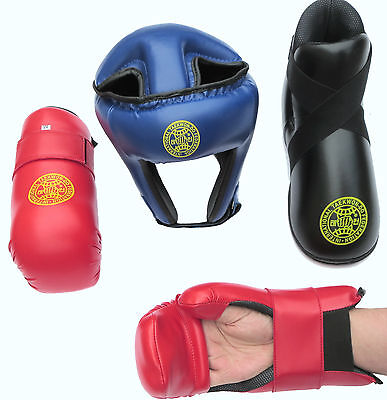 ITF HIGH QUALITY - Taekwondo Sparring Pads - for Head, Hands, Arms, Feet, Shins