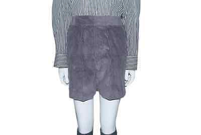 Boys Elastic Back Mid Grey Corduroy Shorts Nylon Lined 9 10 11 12 Years 26 28 W
