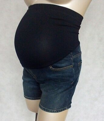 Maternity Light Blue Denim Shorts in Sizes 6/8 Fit Over Your Bump